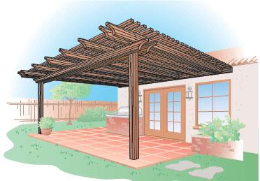 Custom Wood Solar Patio Cover San Diego