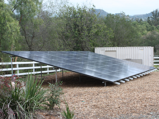 Ground Mounted Solar Array in Valley Center, CA